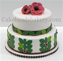 2 Tier Flower And Leaves Ca
