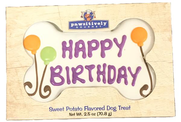 White Happy Birthday Bone Gift Box 00808