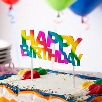 Rainbow Happy Birthday Cake Topper RBHAPBDTOP