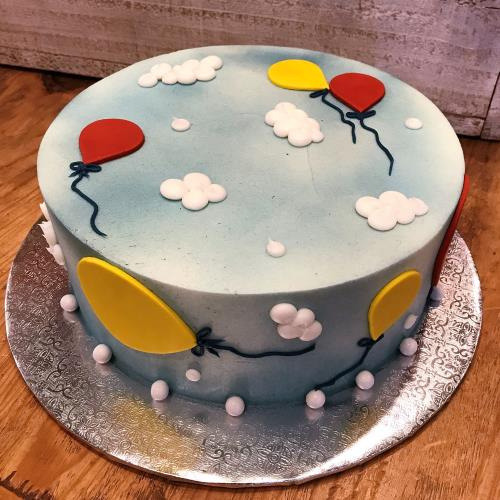 Whimsical Balloon Cake OMC BALCAKE