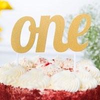 Gold ONE Cake Topper GLD!CKTP
