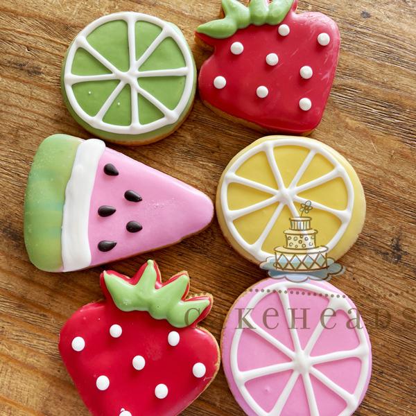 Summertime Fruit Sugar Cookies (6-Pack) SUMFRU6PKCK