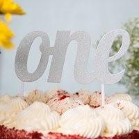 Silver ONE Cake Topper SIL1CKTOP