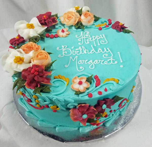 Turquoise Floral Cake TURFLOCK