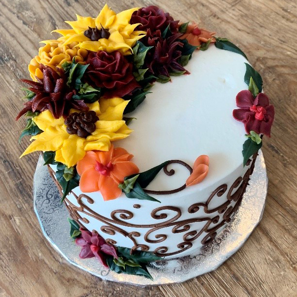 Fall Floral Cake Ffloral1