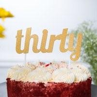 Gold THIRTY Cake Topper GLD30CKTOP