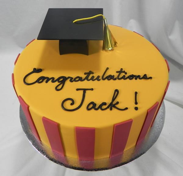 Congratulations Graduate Stripe Cake CONGRADSTRIPE