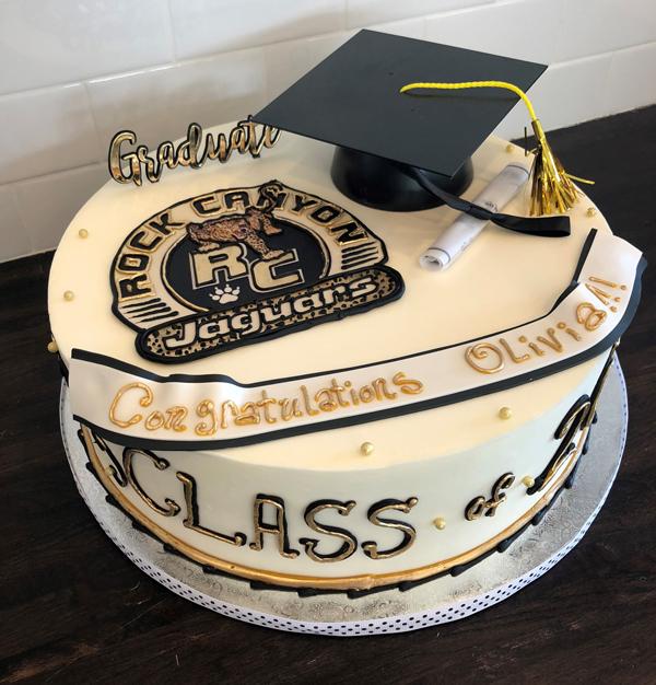 Rock Canyon Graduation Cake RCKCANGRAD