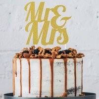 Gold MR & MRS Cake Topper GLDMRMRSCKTOP