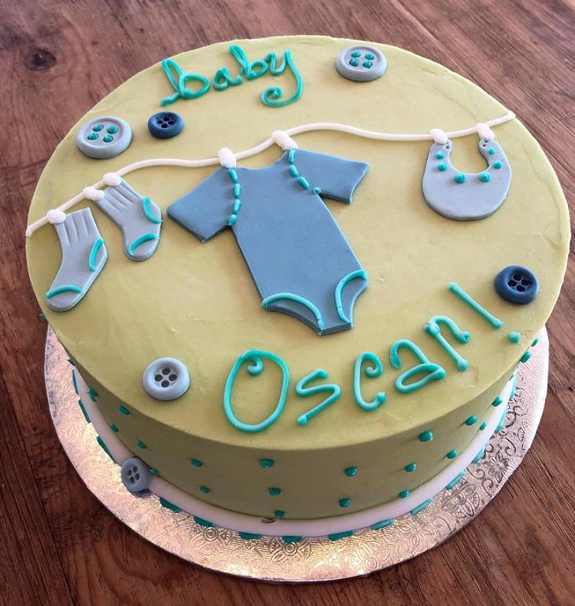 Yellow Onesie Cake YELONECKE