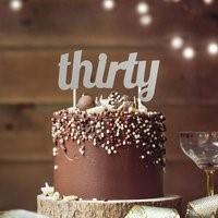 Silver THIRTY Cake Topper SIL30CKTOP