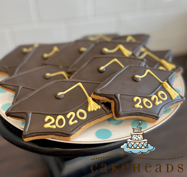 2020 Graduation Cap Sugar Cookies 6-Pack 2020GCCK