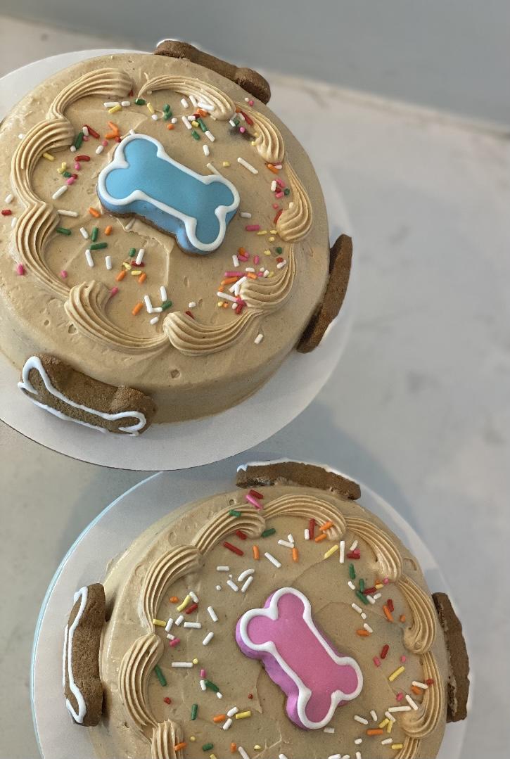 """DOG Birthday Cake 6"""" dogbday1"""