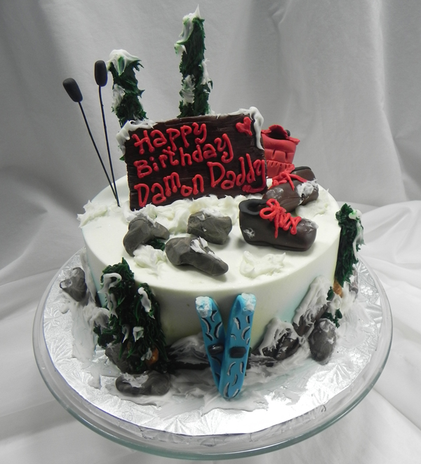 Cake For The Winter Outdoorsman CKWINOUTD