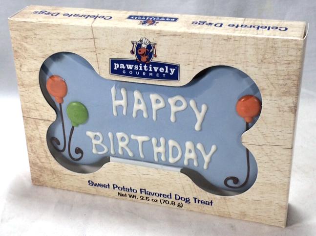Blue Happy Birthday Bone Gift Box 00880