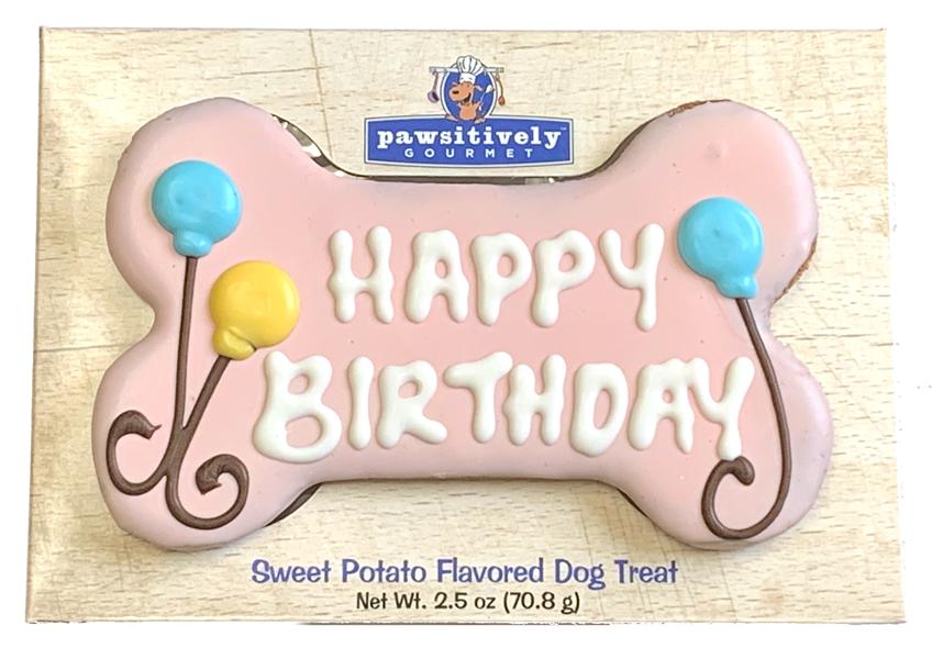 Pink Happy Birthday Bone Gift Box 00895