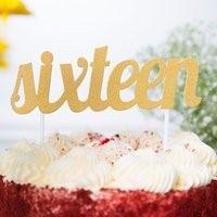 GOLD SIXTEEN Cake Topper GLD16CKTOP